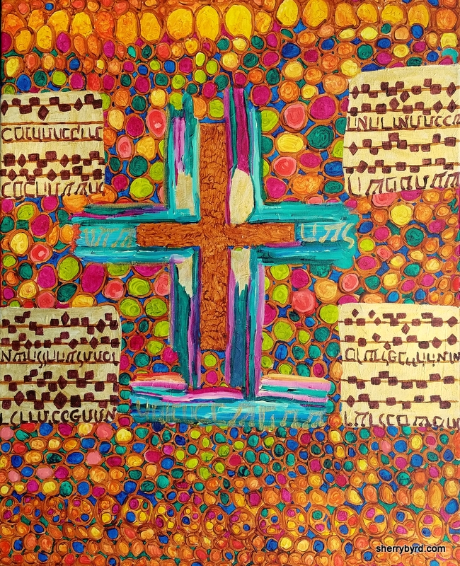 """Painted Cross"""